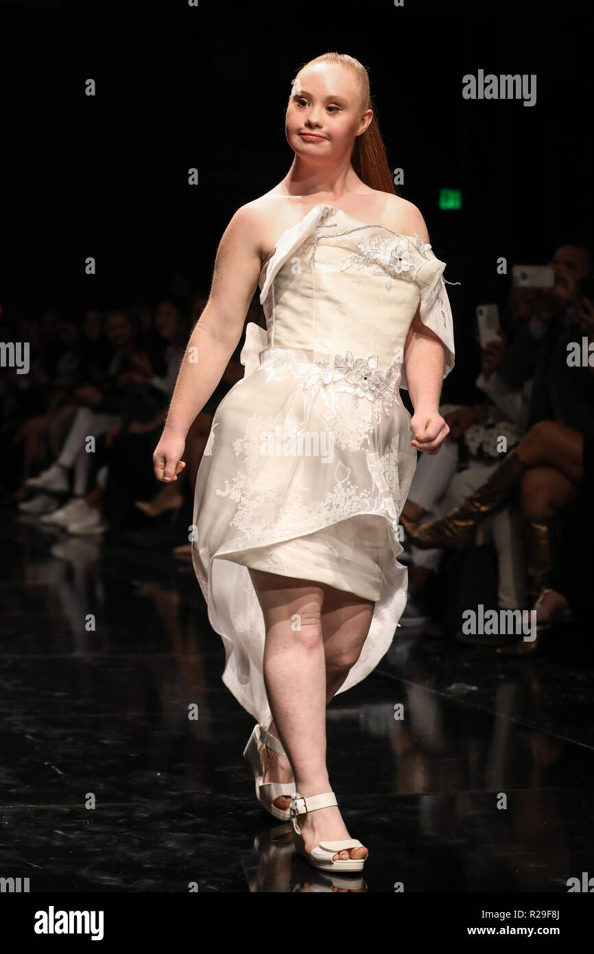 Los Angeles Fashion Week - Art Hearts Fashion - RC Caylan - Catwalk  Featuring  Madeline Stuart Where  Los Angeles 74ee95340454