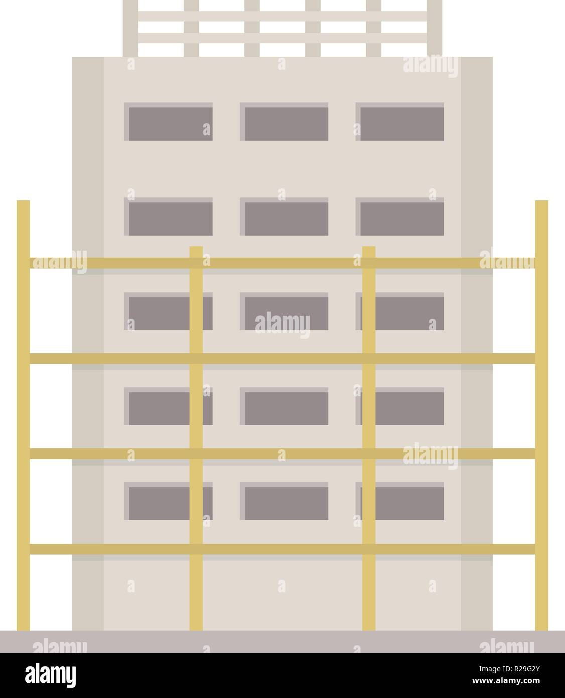 House project icon. Flat illustration of house project vector icon for web Stock Vector