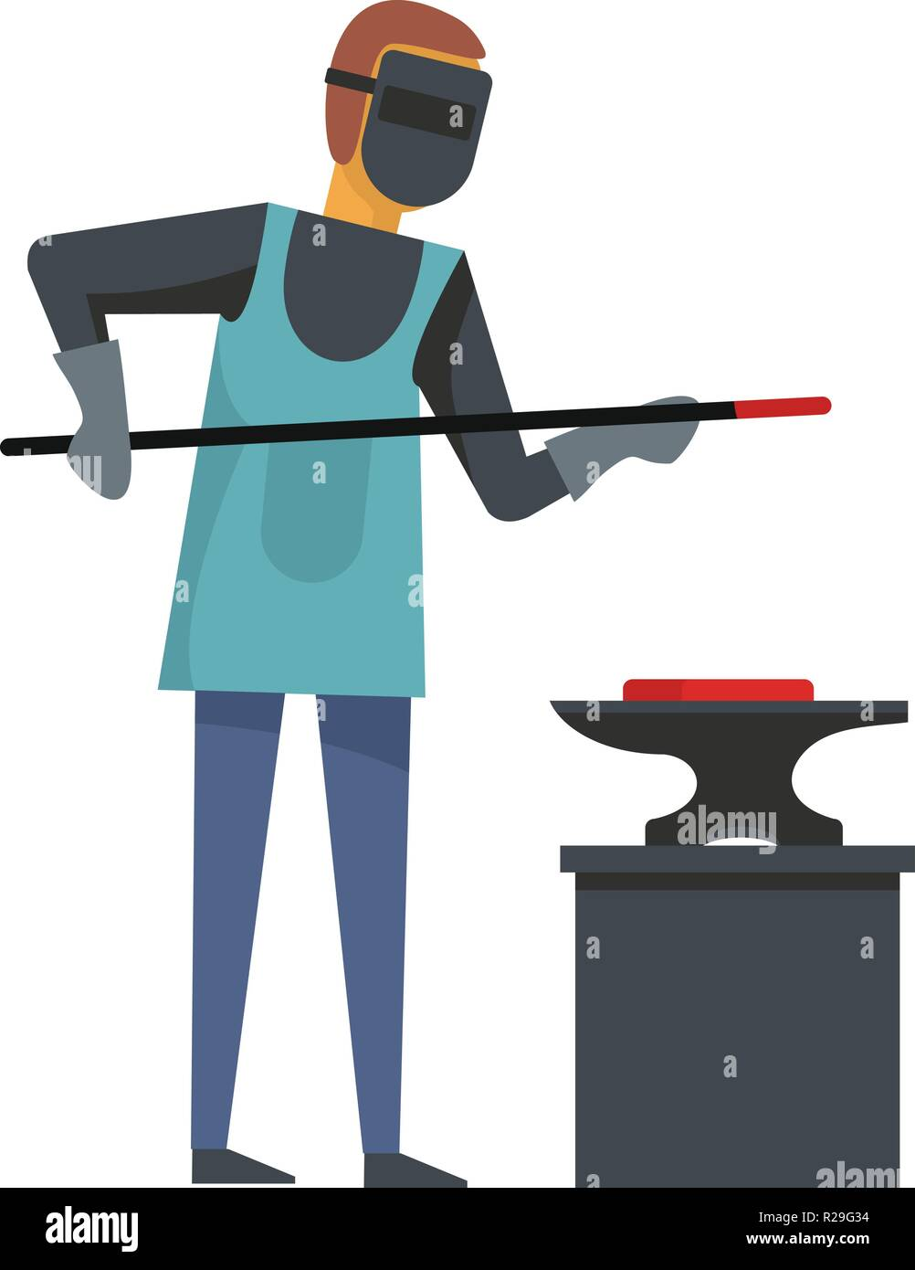 Blacksmith icon. Flat illustration of blacksmith vector icon for web - Stock Vector