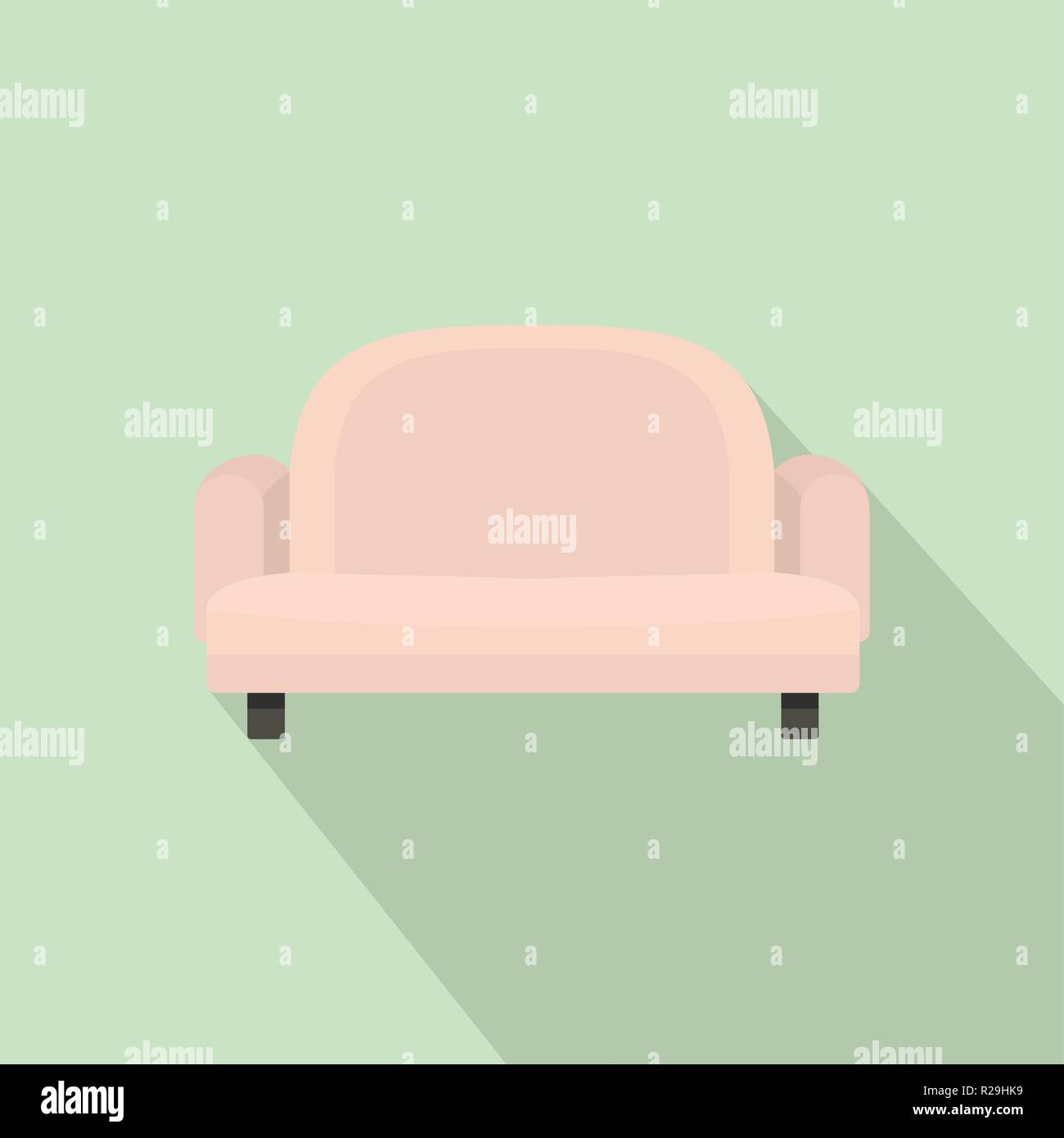 Armchair Sofa Icon Flat Illustration Of Armchair Sofa Vector Icon