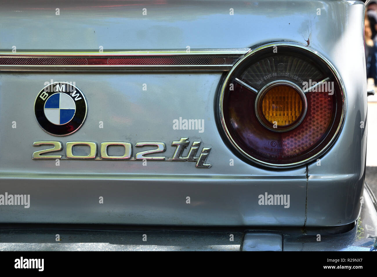 BMW 2002tii badge and nameplate - Stock Image