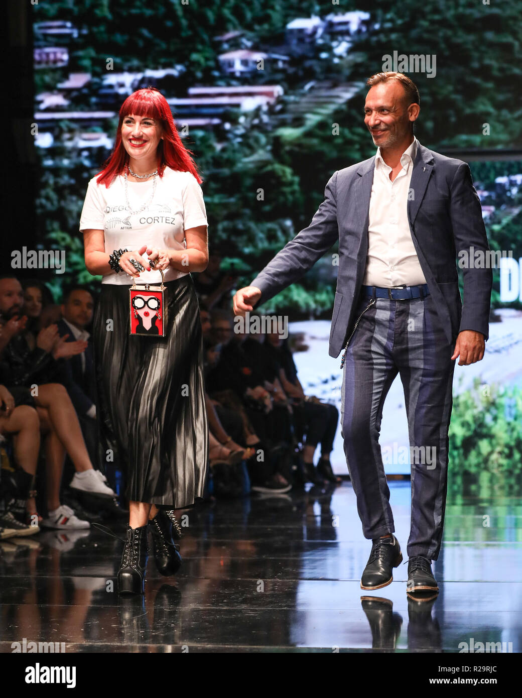 Los Angeles Fashion Week Art Hearts Fashion Diego Cortez Catwalk Featuring Angie Valentino Diego Cortez Fashion