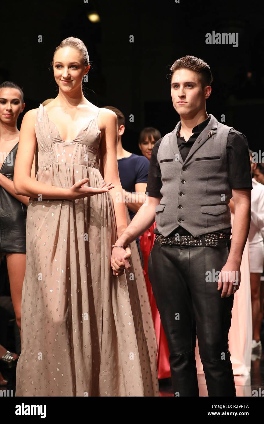 Los Angeles Fashion Week Art Hearts Fashion Jonathan Marc Stein Catwalk Featuring Model Jonathan Marc Stein