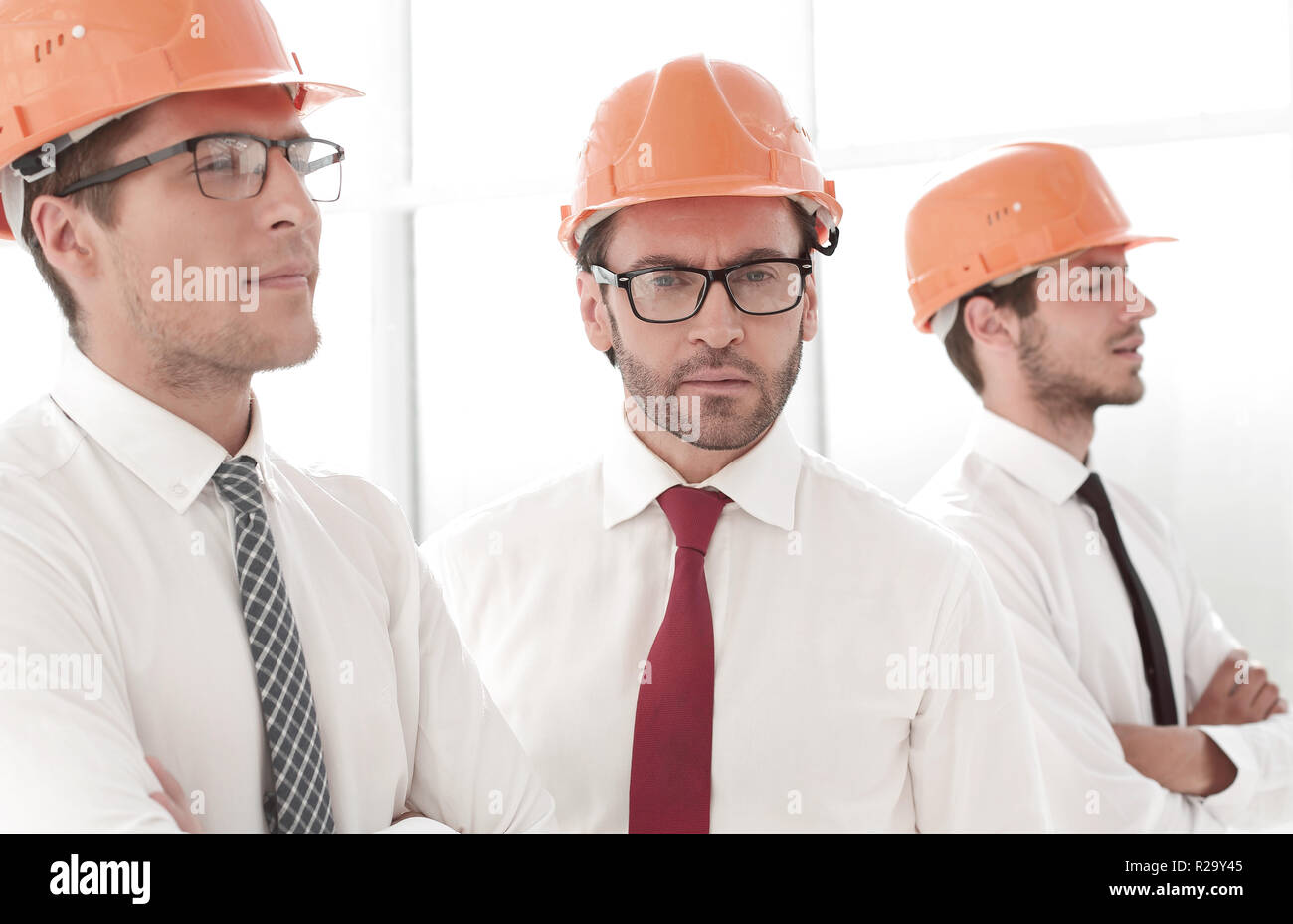 close up.group of architects and designers - Stock Image