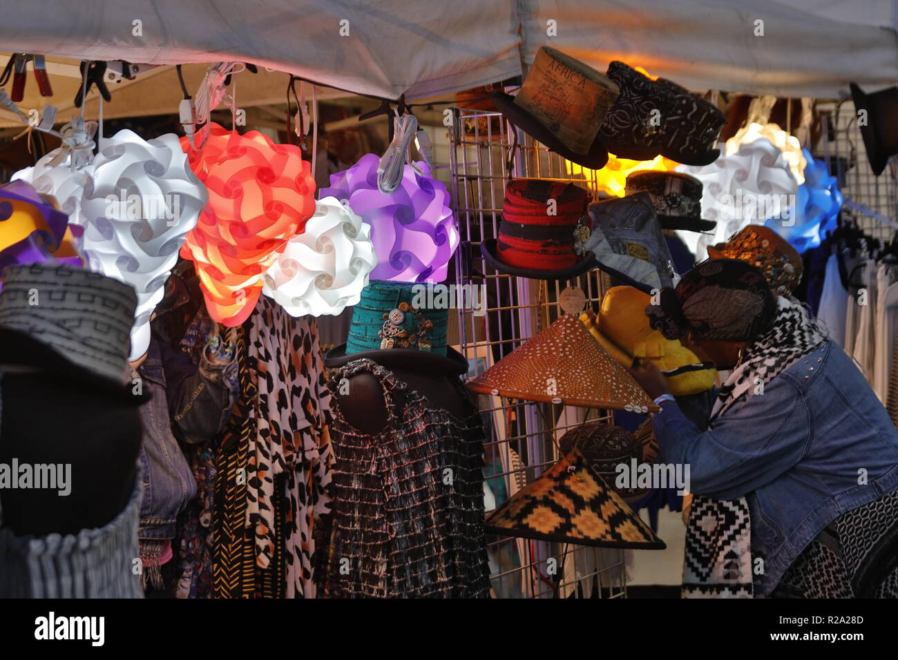 Vendors provide gifts and food at the 61st Monterey Jazz Festival - MONTEREY, CALIFORNIA Stock Photo