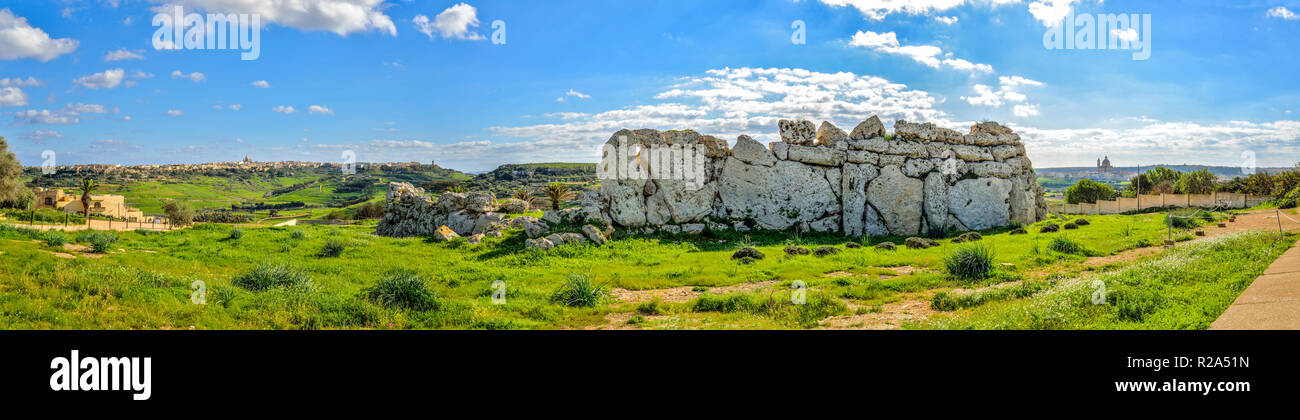 The neolithic monument of Ggantija in Xagħra, Gozo island, Malta. - Stock Image