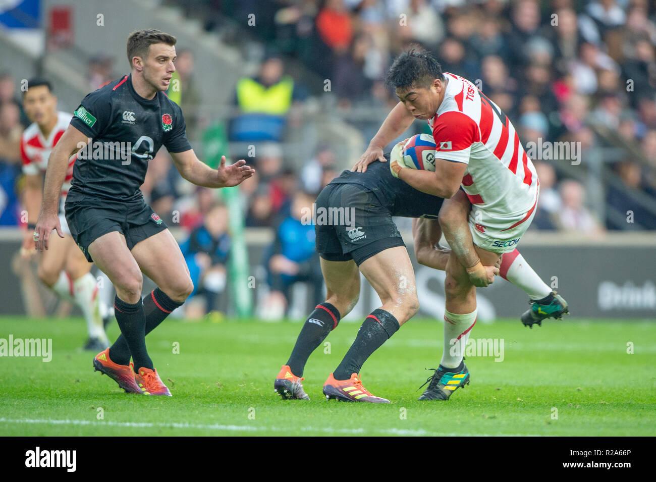 966769cac79 Twickenham, United Kingdom, Saturday, 17th November 2018, RFU, Rugby,  Stadium, England, Quilter Autumn International, England vs Japan, © Peter  Spur
