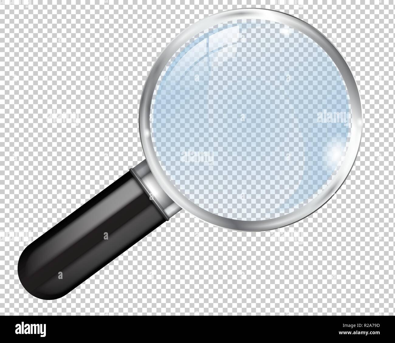 Transparent magnifying glass Stock Vector