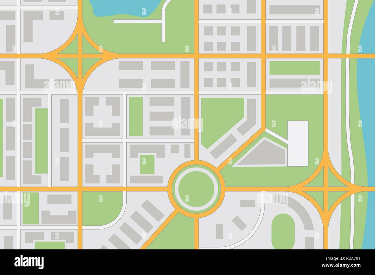 City map - Stock Vector