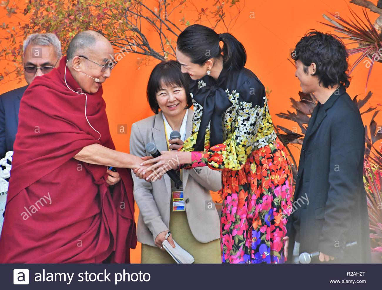 Tokyo, Japan  17th Nov, 2018  (L-R) The 14th Dalai Lama