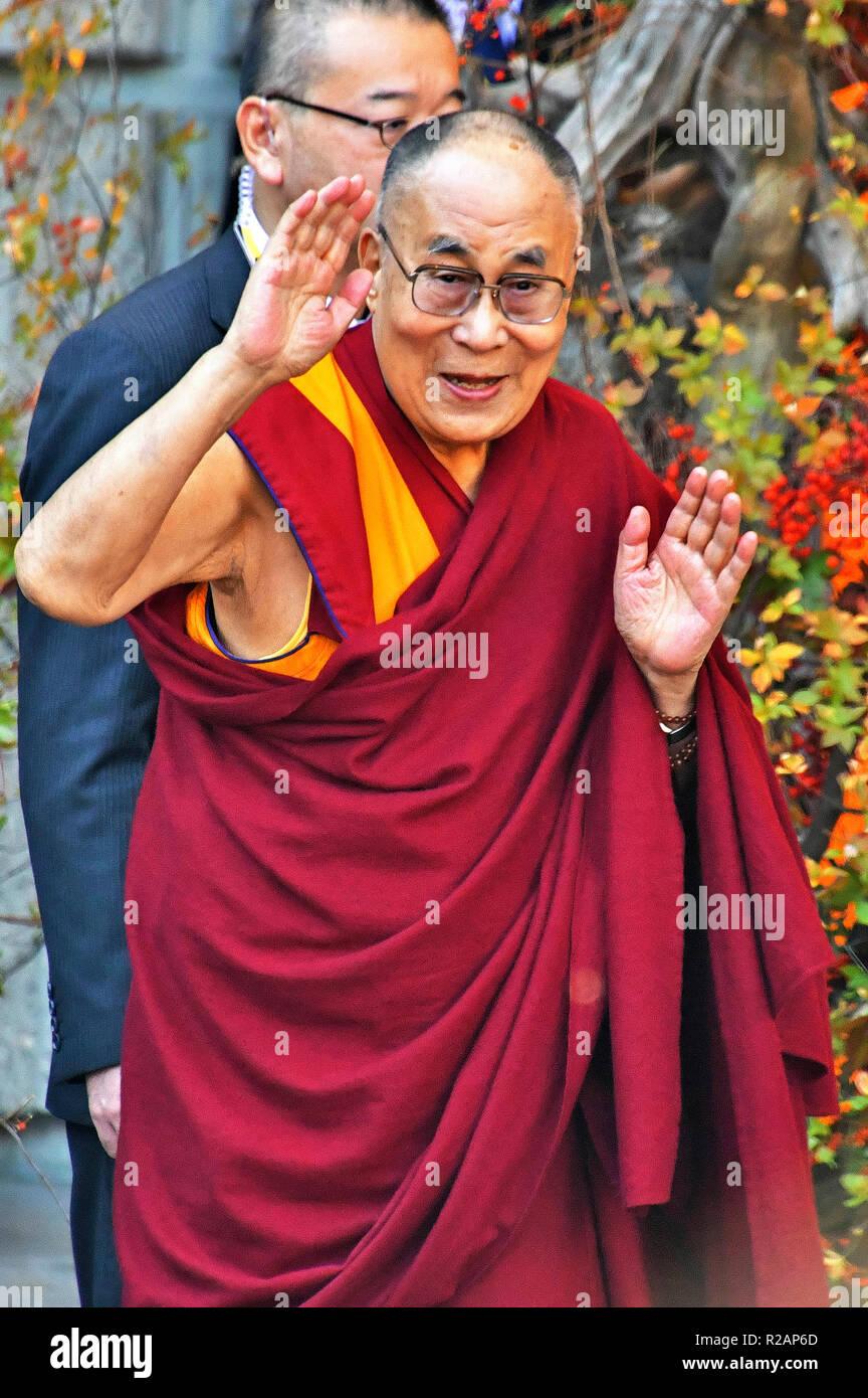Tokyo, Japan  17th Nov, 2018  The Dalai Lama at the 'One - We Are
