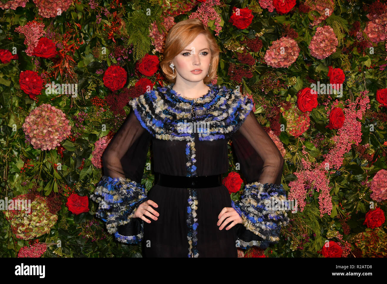 Ellie Bamber attends Evening Standard Theatre Awards at Theatre Royal, on 18 November 2018, London, UK. - Stock Image