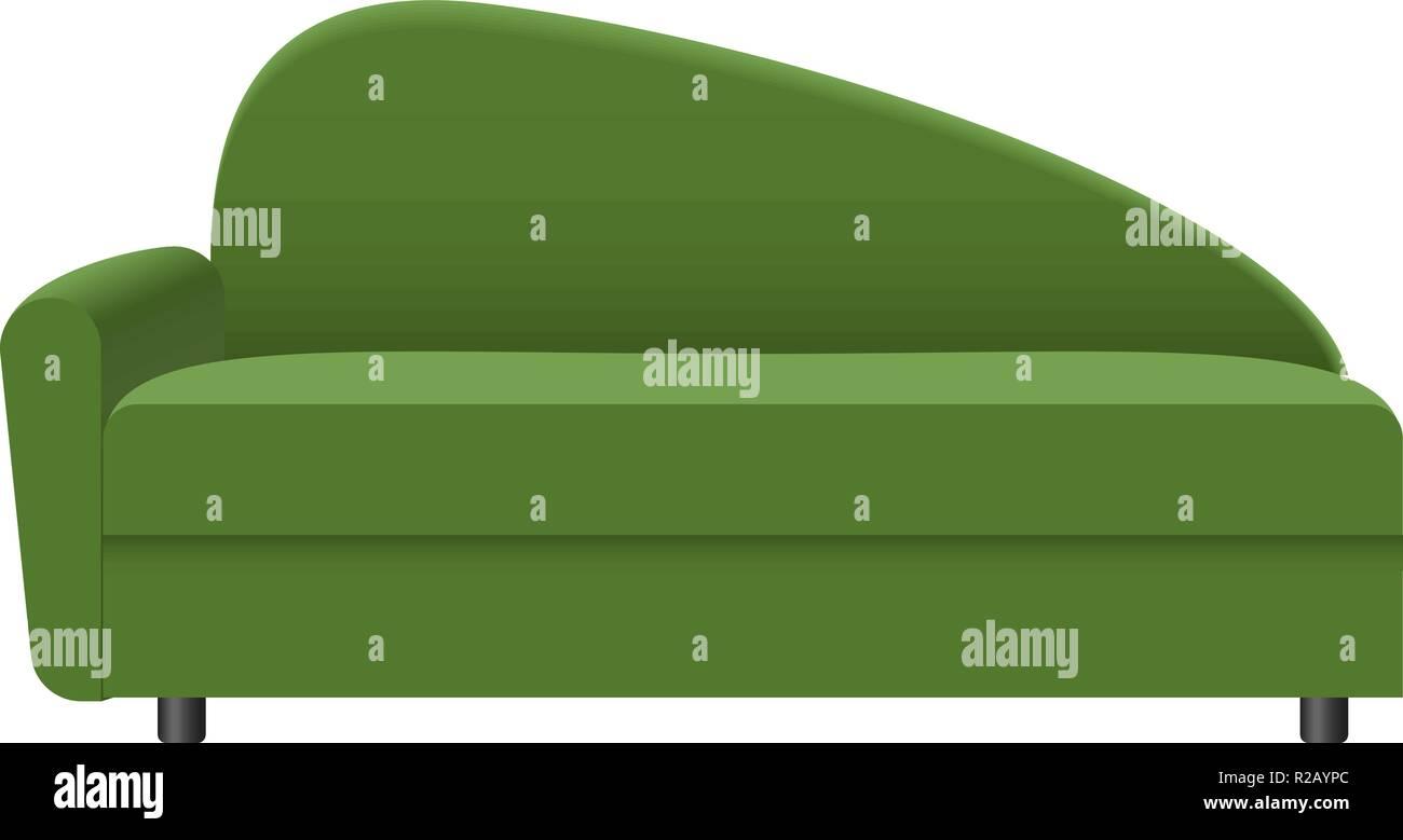 Modern green sofa mockup. Realistic illustration of modern ...