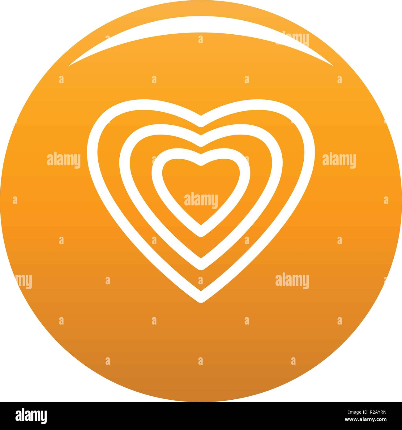 Human heart icon  Simple illustration of human heart vector