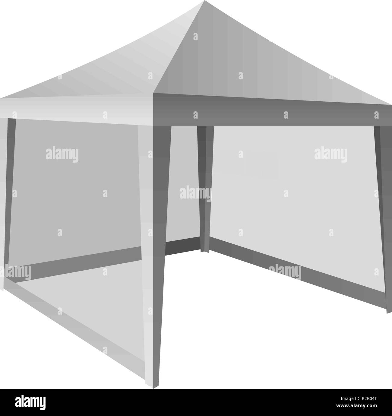 Outdoor White Tent Mockup Realistic Illustration Of Outdoor White Tent Vector Mockup For Web Design Isolated On White Background Stock Vector Image Art Alamy
