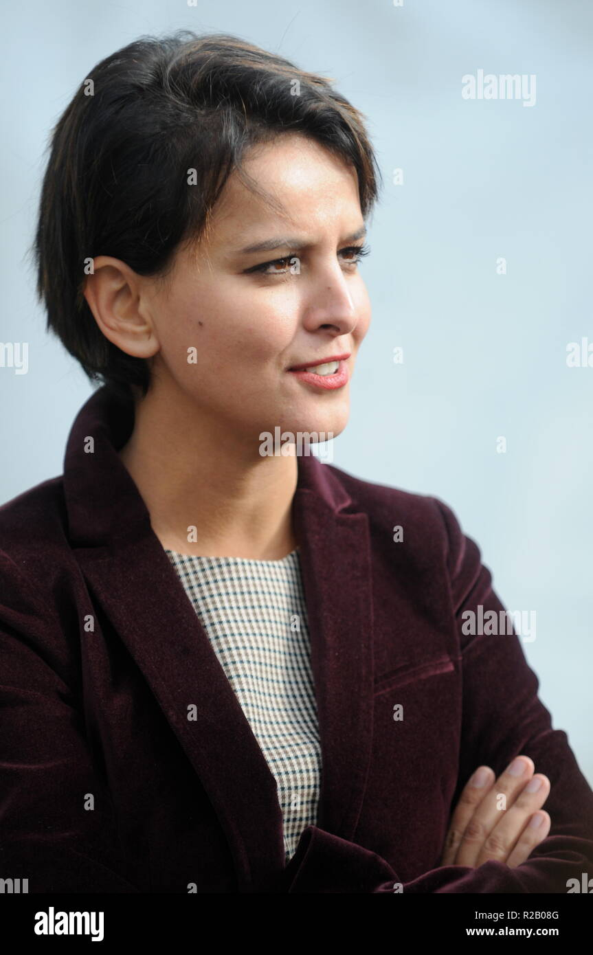 Najat Vallaud-Belkacem, French Minister of Education, attends Commitment Universities; Lyon, France - Stock Image