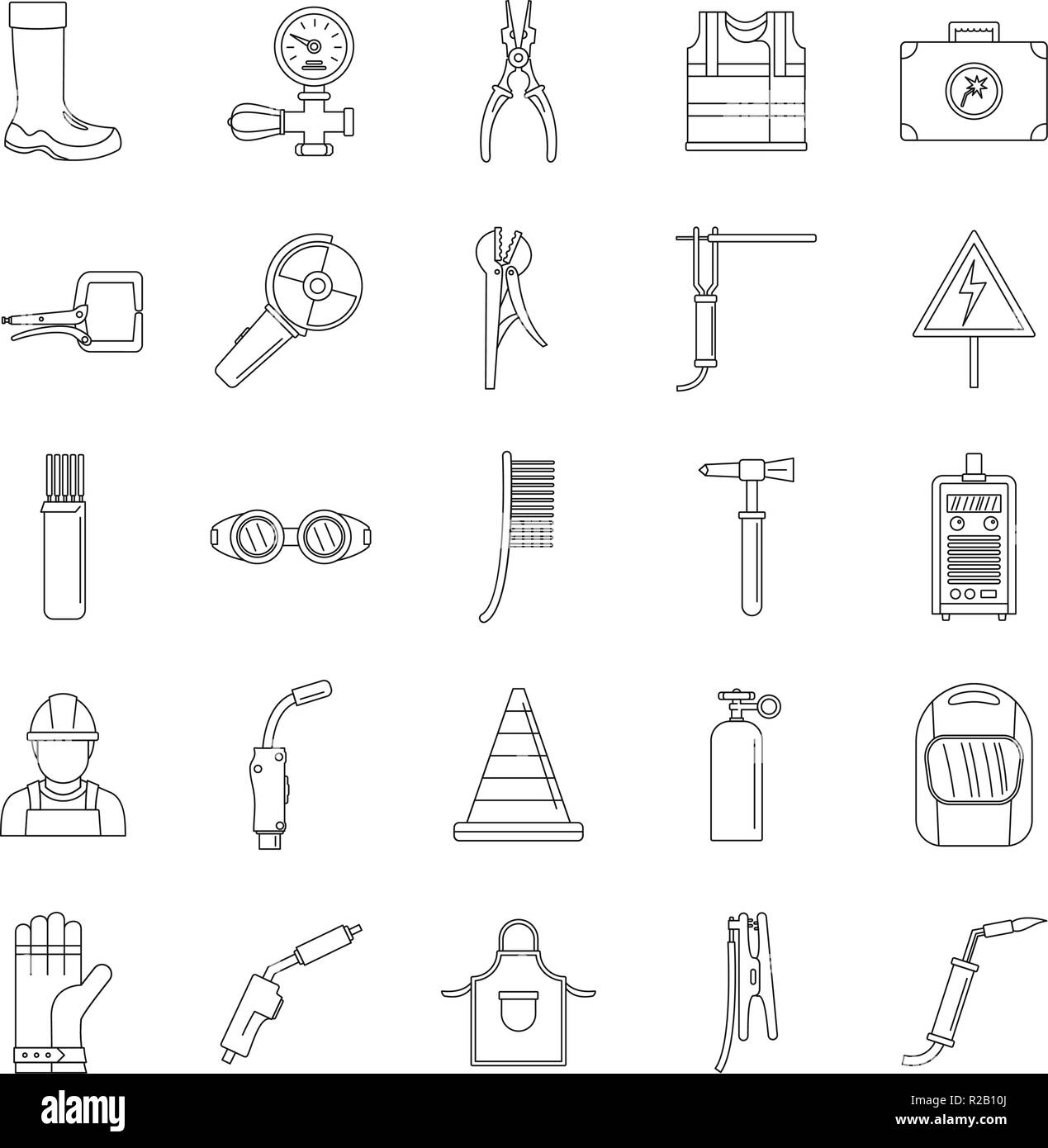 Weld Stock Vector Images Alamy Oxy Acetylene Welding Equipment Diagram Welder Icons Set Outline Illustration Of 25 Cargo For Web