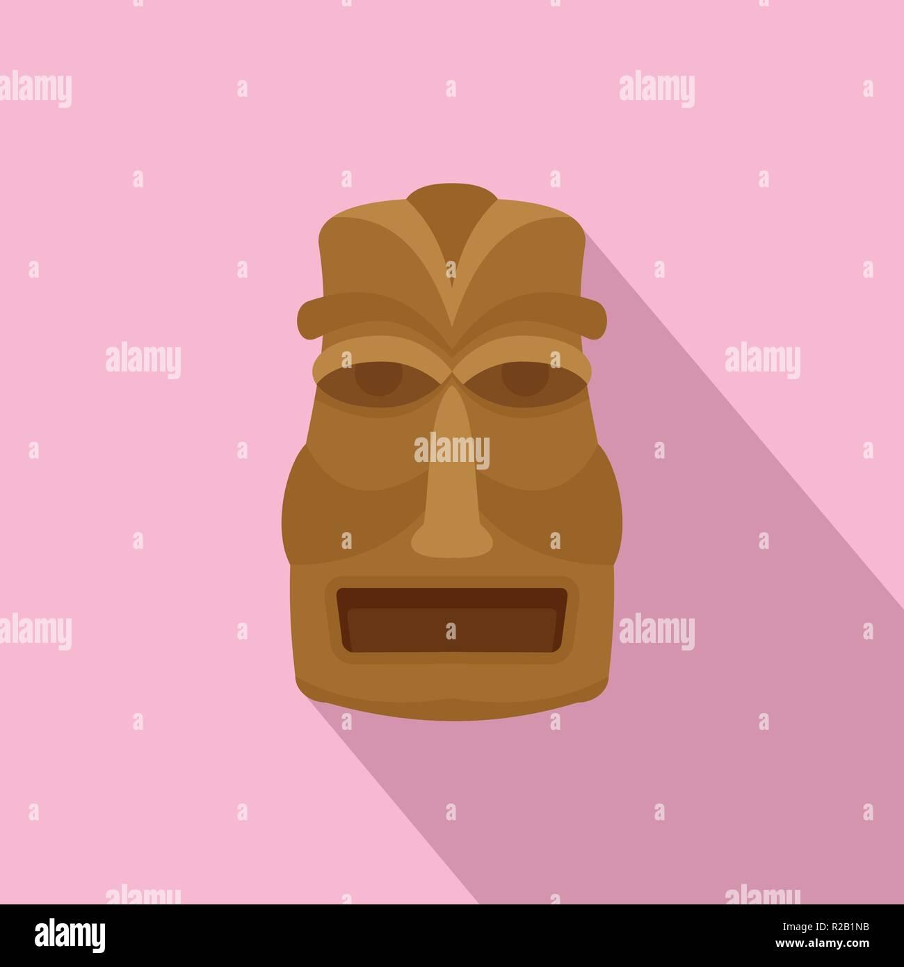 Hawaian idol icon. Flat illustration of hawaian idol vector icon for web design - Stock Vector