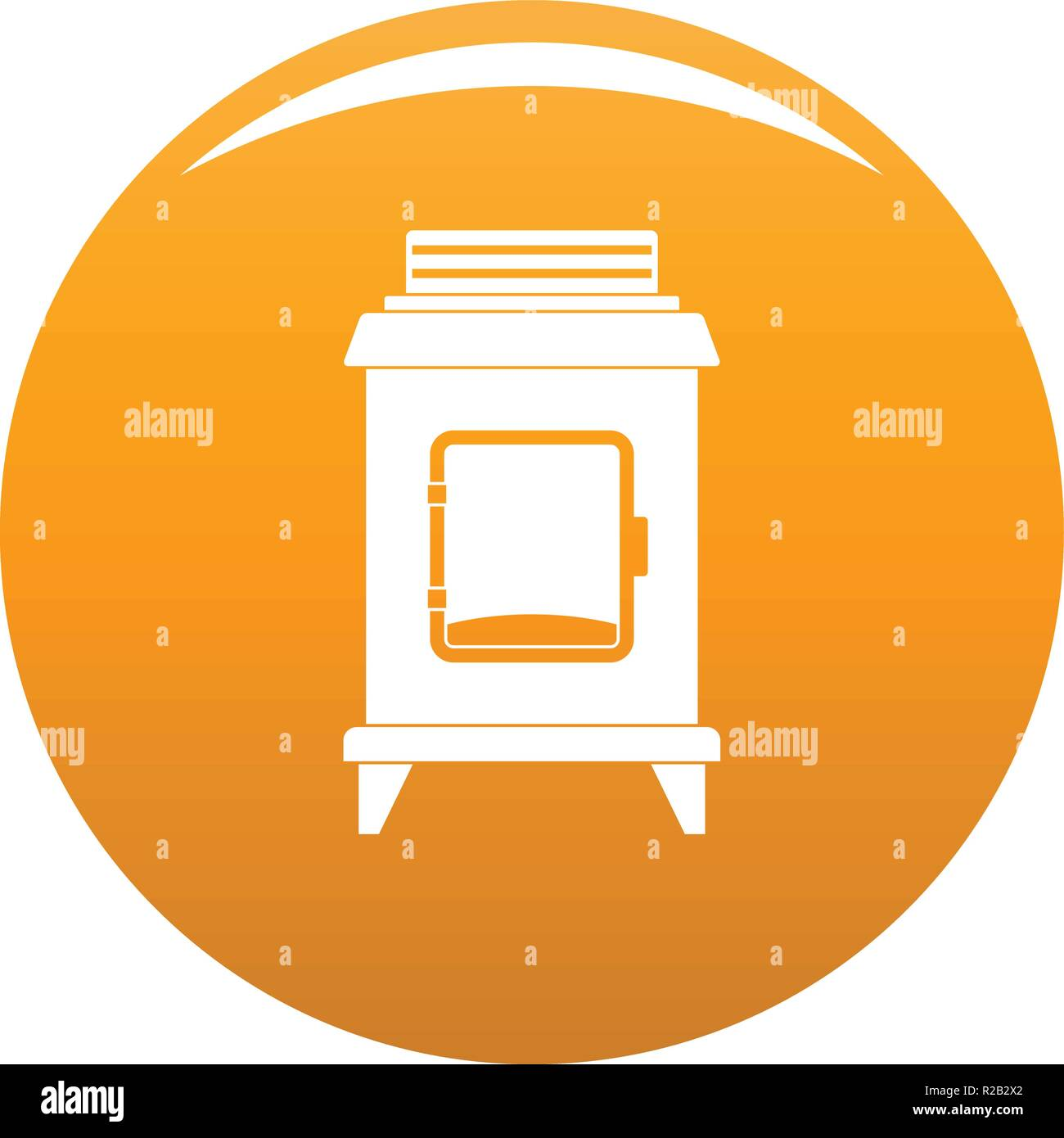 Old oven icon. Simple illustration of old oven vector icon for any design orange - Stock Vector