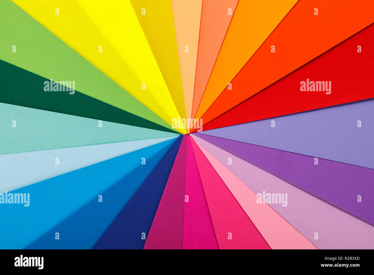 Rainbow Color Palette Sheets Of Colored Paper Stock Photo
