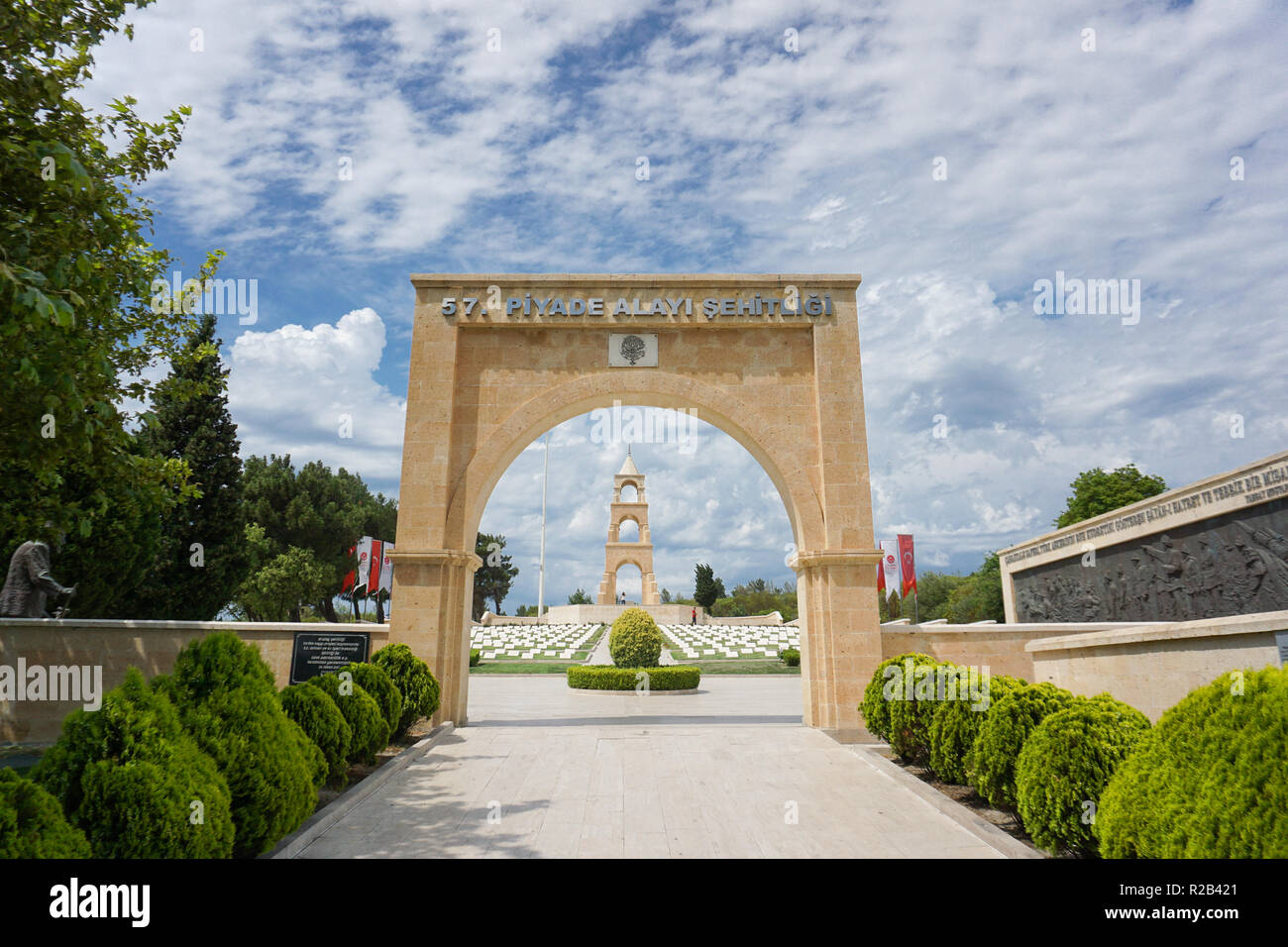 Canakkale, Turkey, 57th martrys memorial - Stock Image