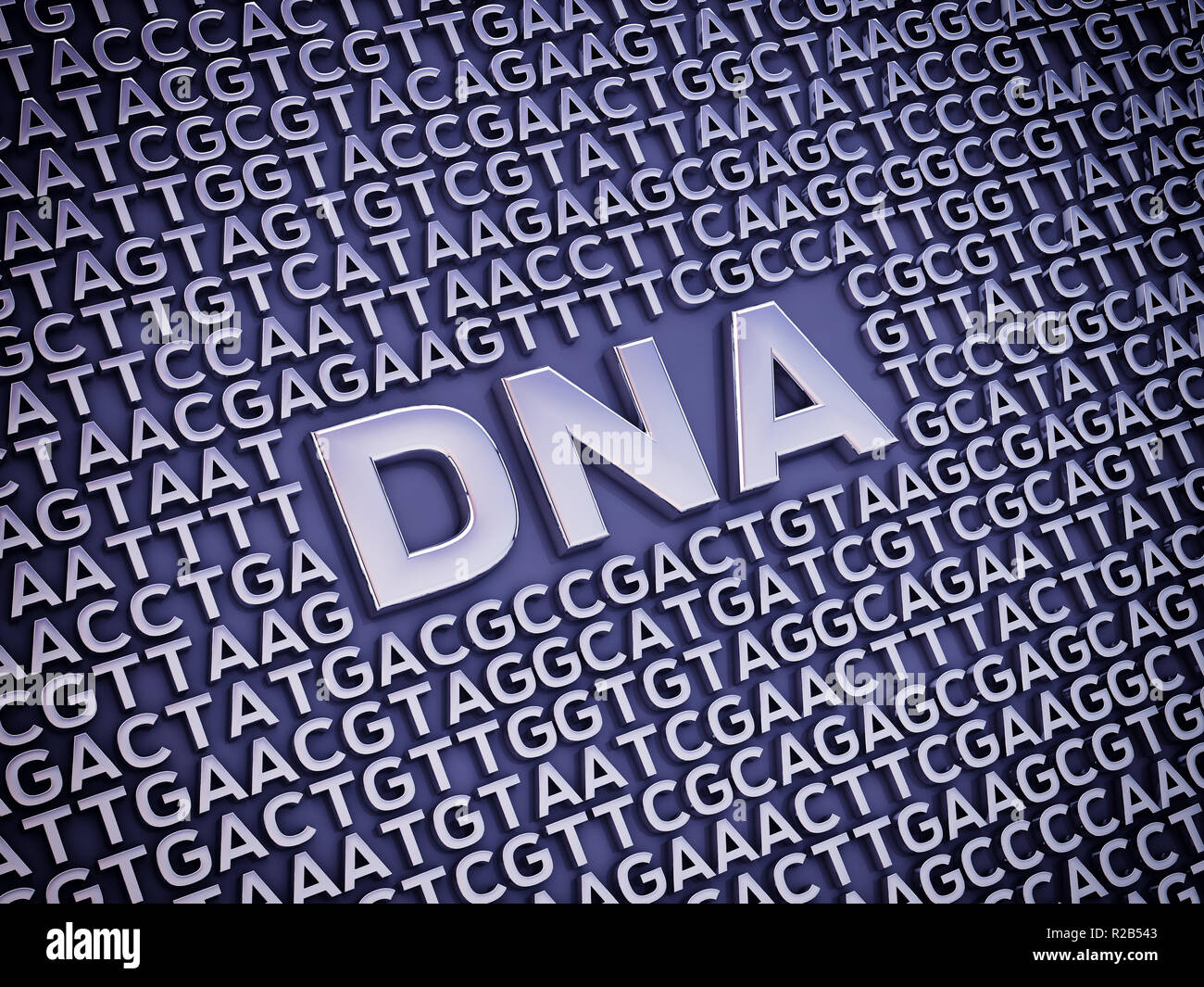 Nucleobases are the buidling blocks of DNA, Genetic code - Stock Image