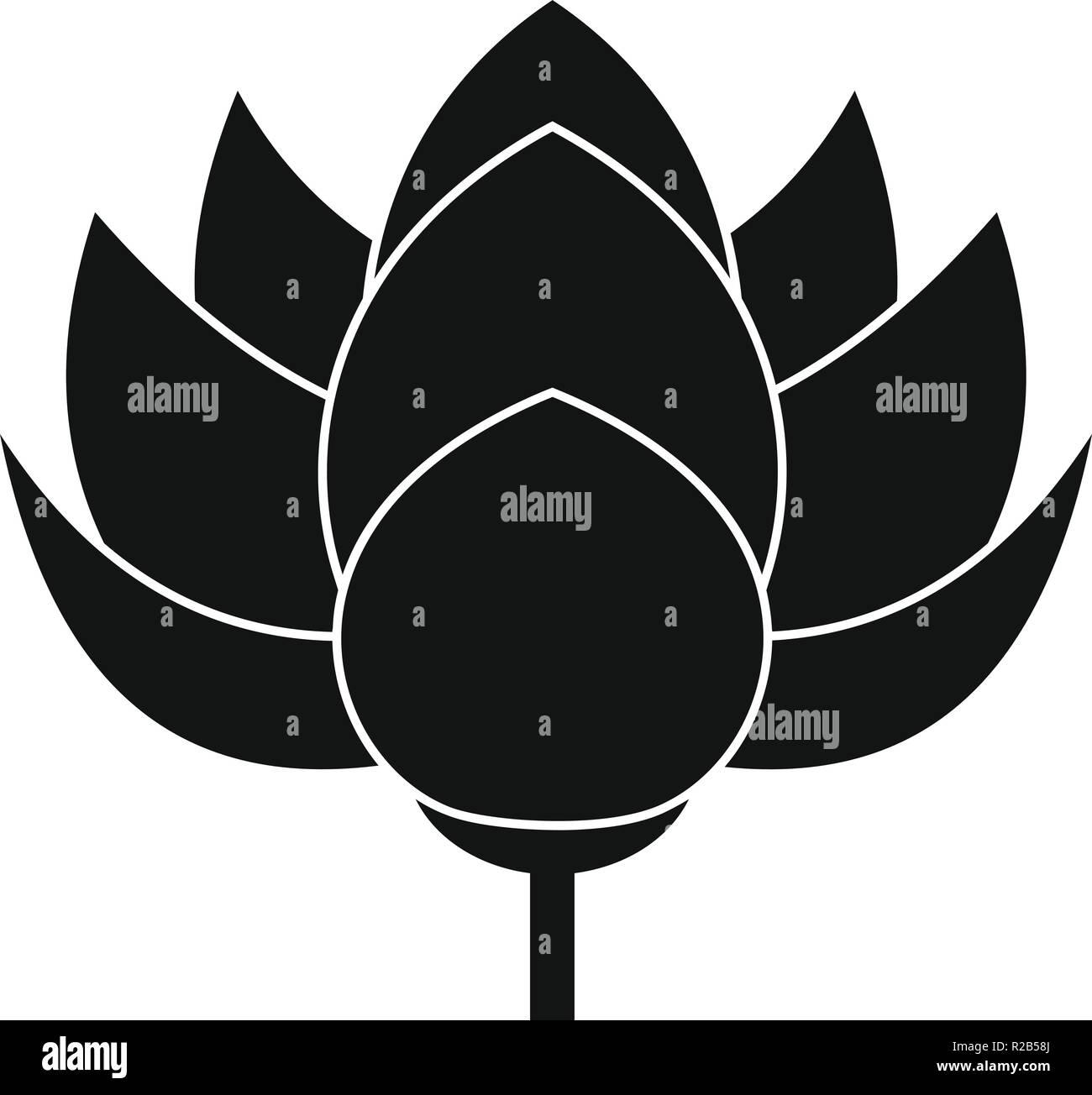 Lotus Flower Icon Simple Illustration Of Lotus Flower Vector Icon