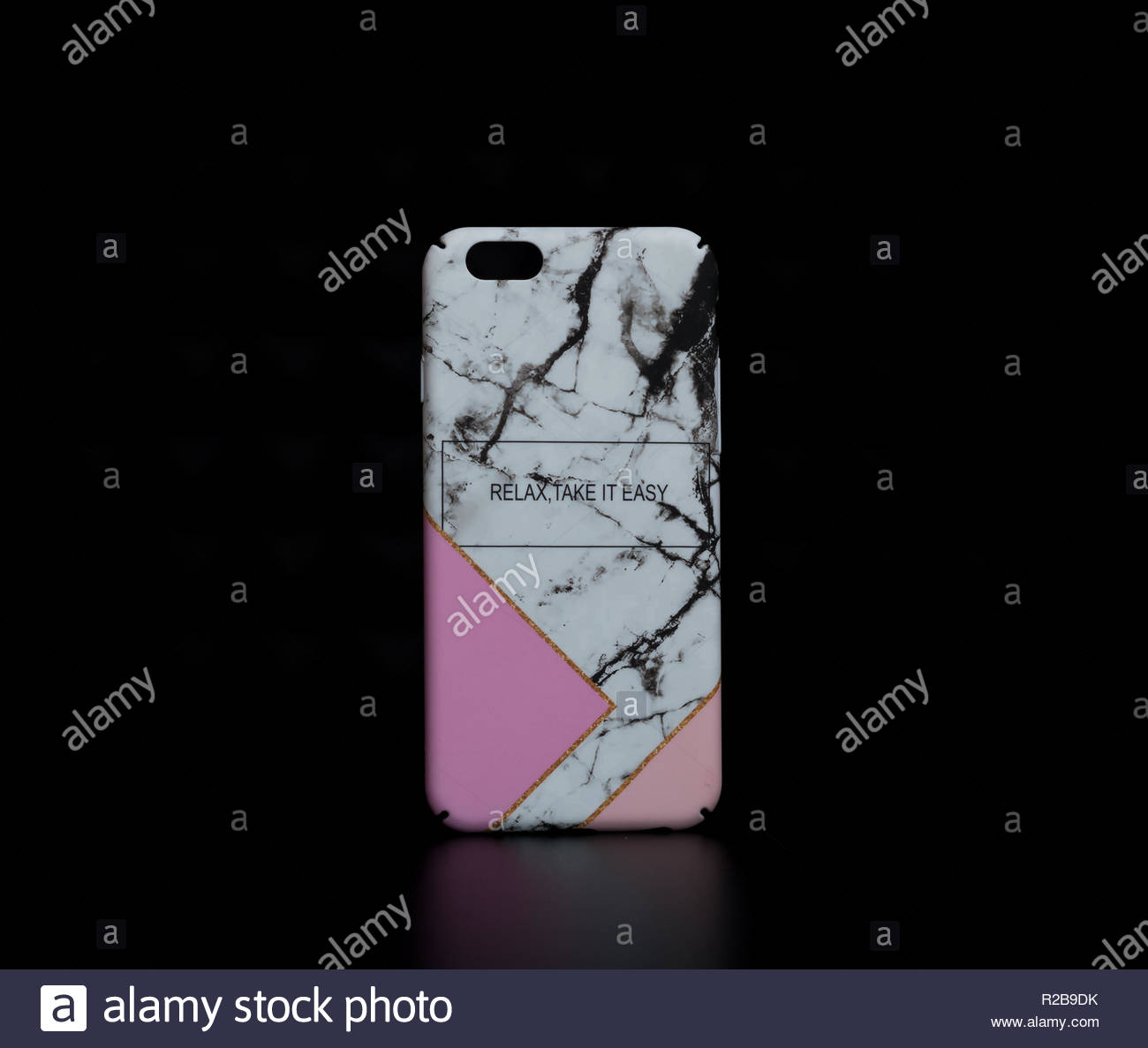 Marble stone design iphone x iphone xs iphone 7 iphone 8 phone cases - Stock Image
