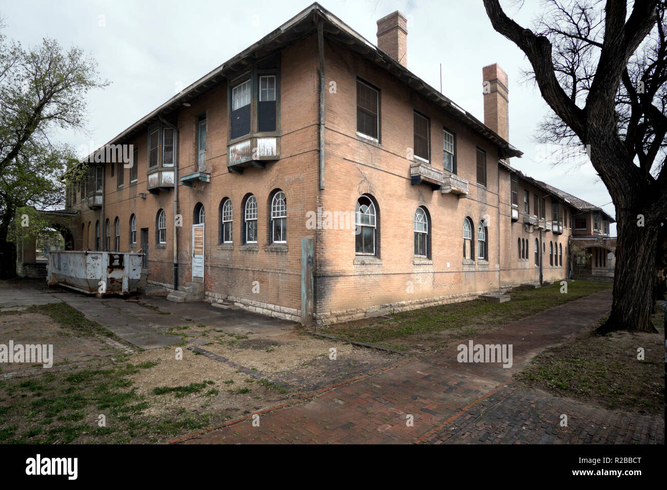 Hotel being renovated in Las Vegas, New Mexico. Stock Photo