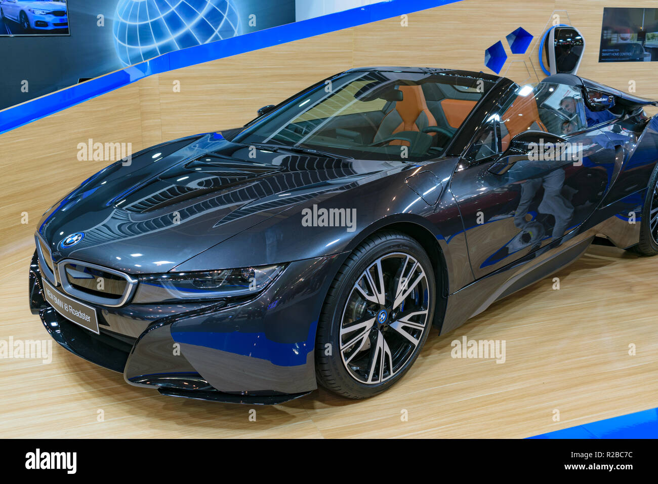 Ag. Kosmas, Greece - November 10 2018: BMW i8 Roadster - Stock Image