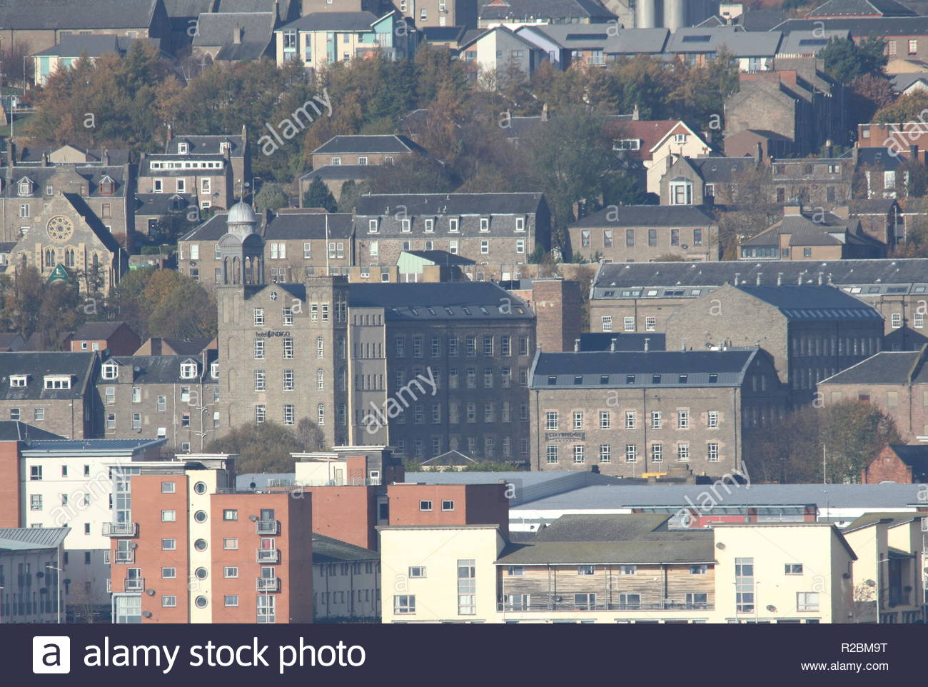 Distant view of Hotel Indigo Dundee Scotland  November 2018 - Stock Image