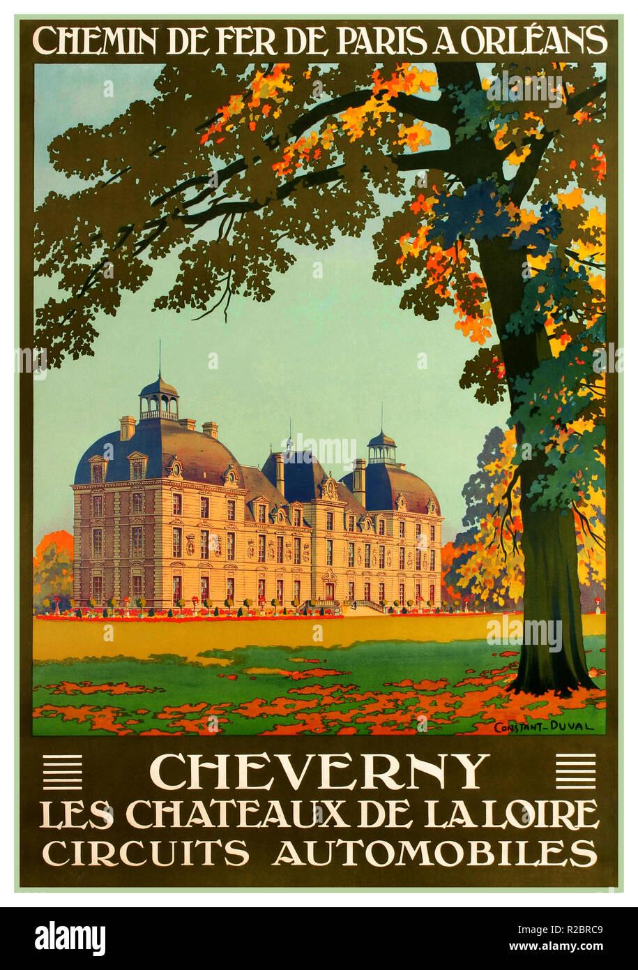 FRENCH CASTLE VINTAGE TRAVEL POSTER Chateau de Nantes