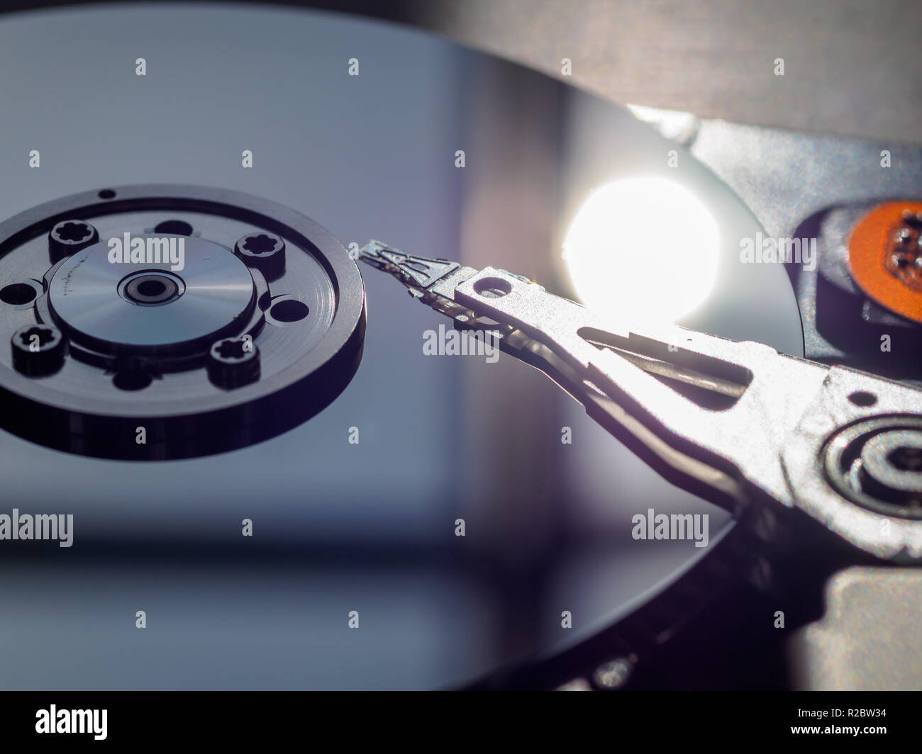 Open PC hard drive - Stock Image