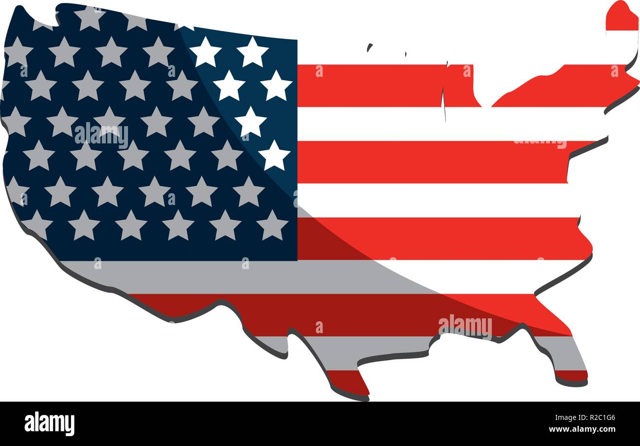 United states map and flag design Stock Vector