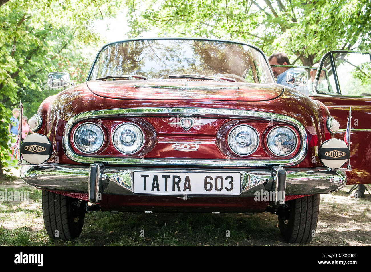 Prague, Czech Republic, May 26, 2018, Tatra 603 was a passenger car manufactured by Tatra National Company Kopřivnice between 1955 and 1975 - Stock Image