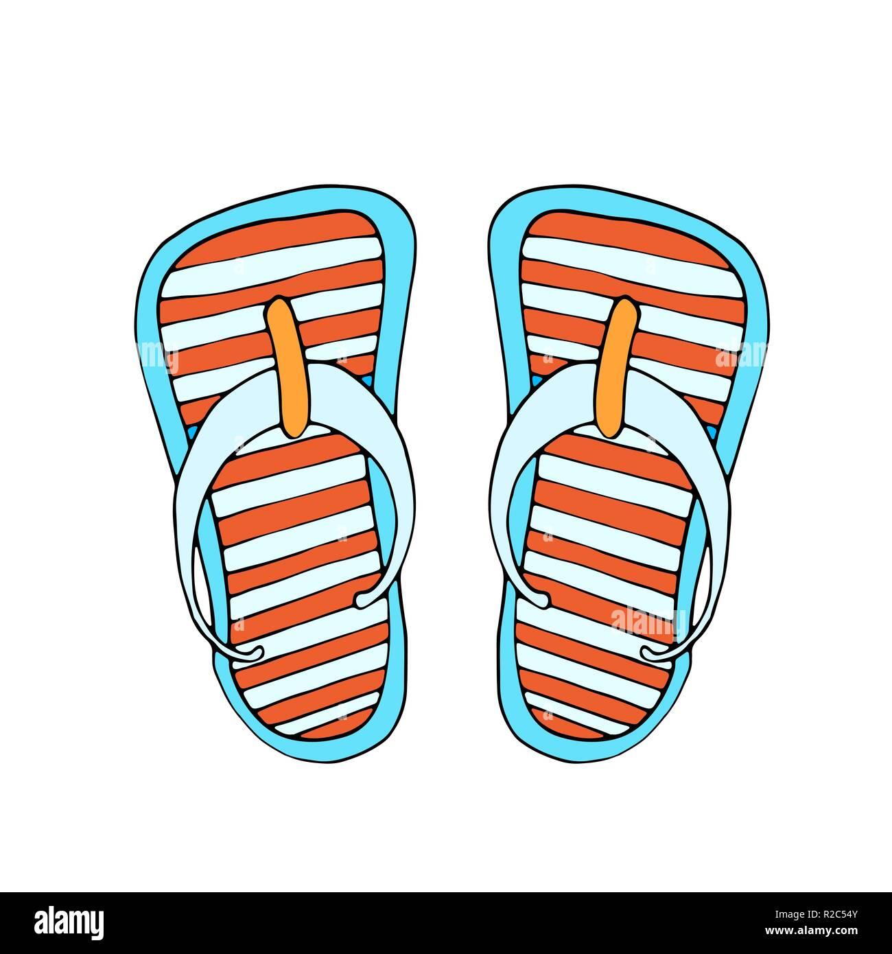f7baad374bd2 Colorful flip flops
