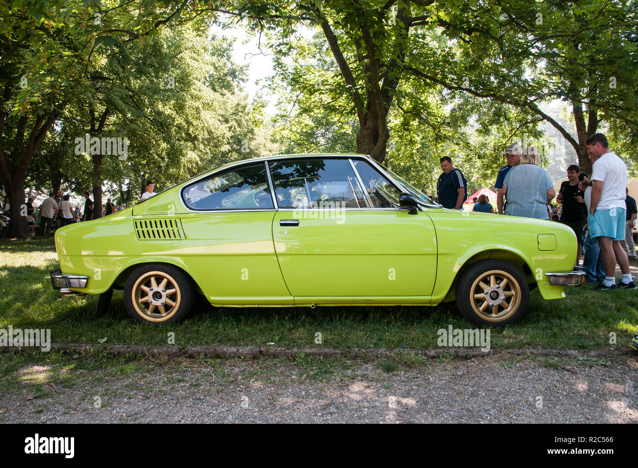 Prague, Czech Republic, May 26, 2018, Škoda 110 R is a passenger car - a coupe derived from the Skoda 110 sedan and manufactured between 1970 and 1980 - Stock Image
