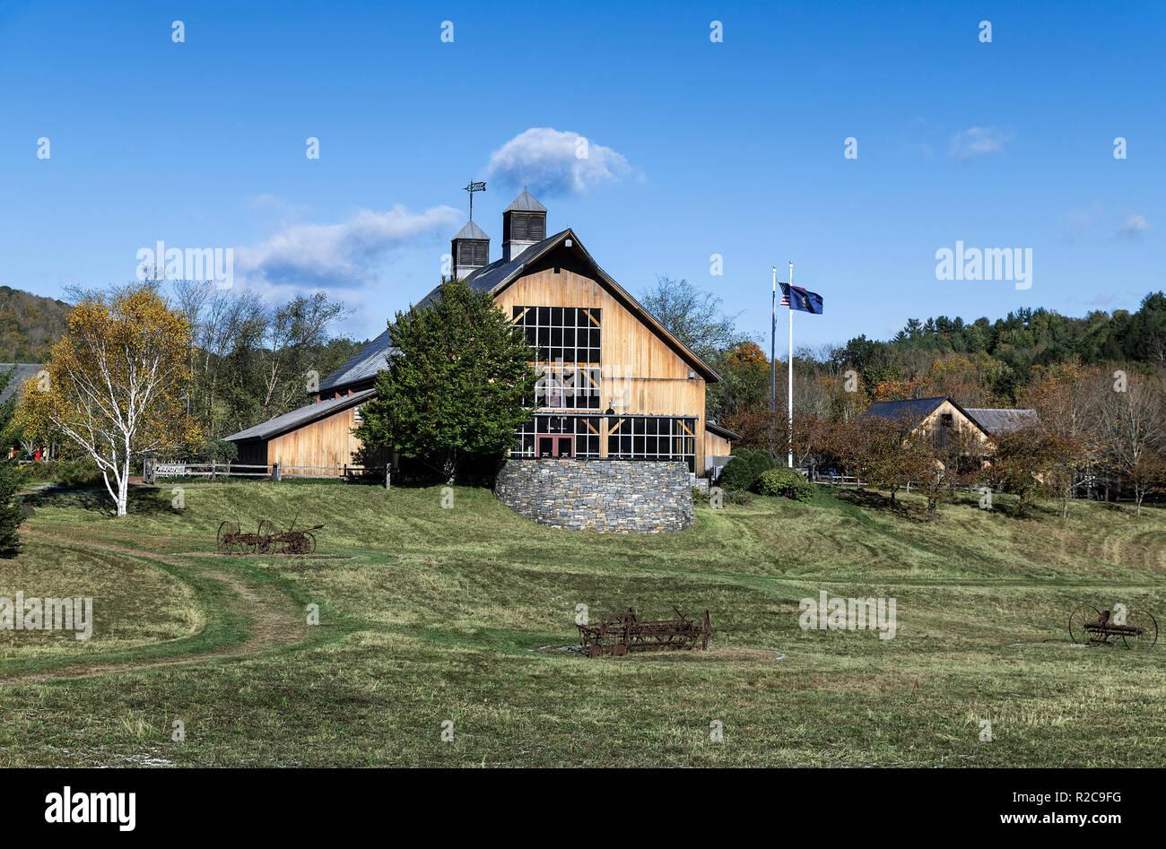 Vermont visitor information center, North Bernardston, Vermont, USA. - Stock Image