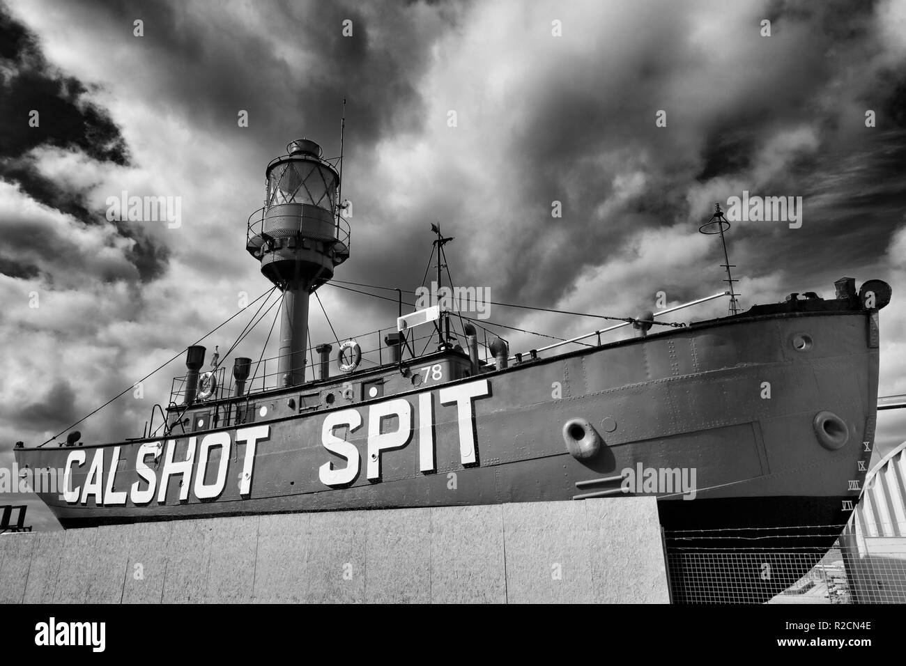 Calshot Spit Lightship, Southampton, Hampshire, England, United Kingdom - Stock Image