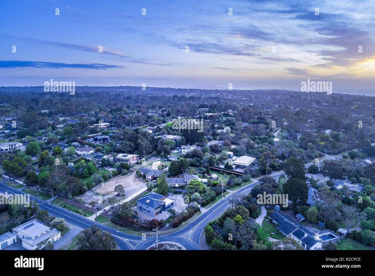 Aerial view of Frankston South, Victoria, Australia - Stock Image