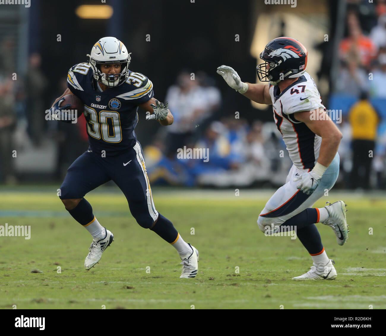217b7691 Carson, CA. 18th Nov, 2018. Los Angeles Chargers running back Austin ...