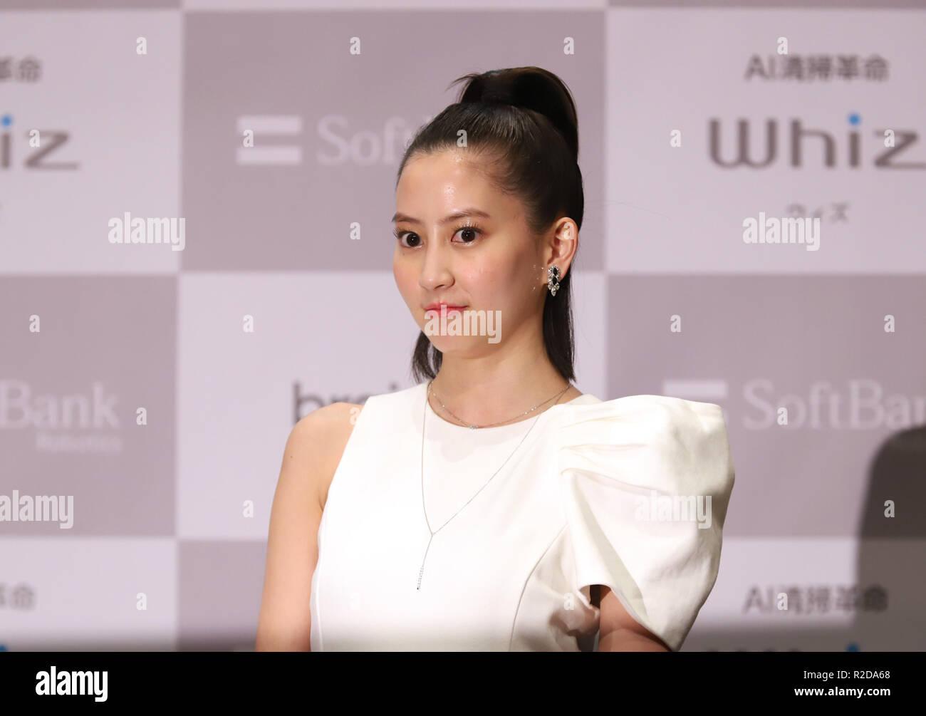 Tokyo, Japan  19th Nov, 2018  Japanese actress Mayuko