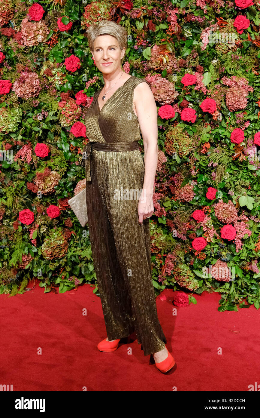 London, UK. 18th November, 2018. Tamsin Greig at 64th Evening Standard Theatre Awards 2018 on Sunday 18 November 2018 held at Theatre Royal Drury Lane, London. Pictured: Tamsin Greig. Credit: Julie Edwards/Alamy Live News - Stock Image