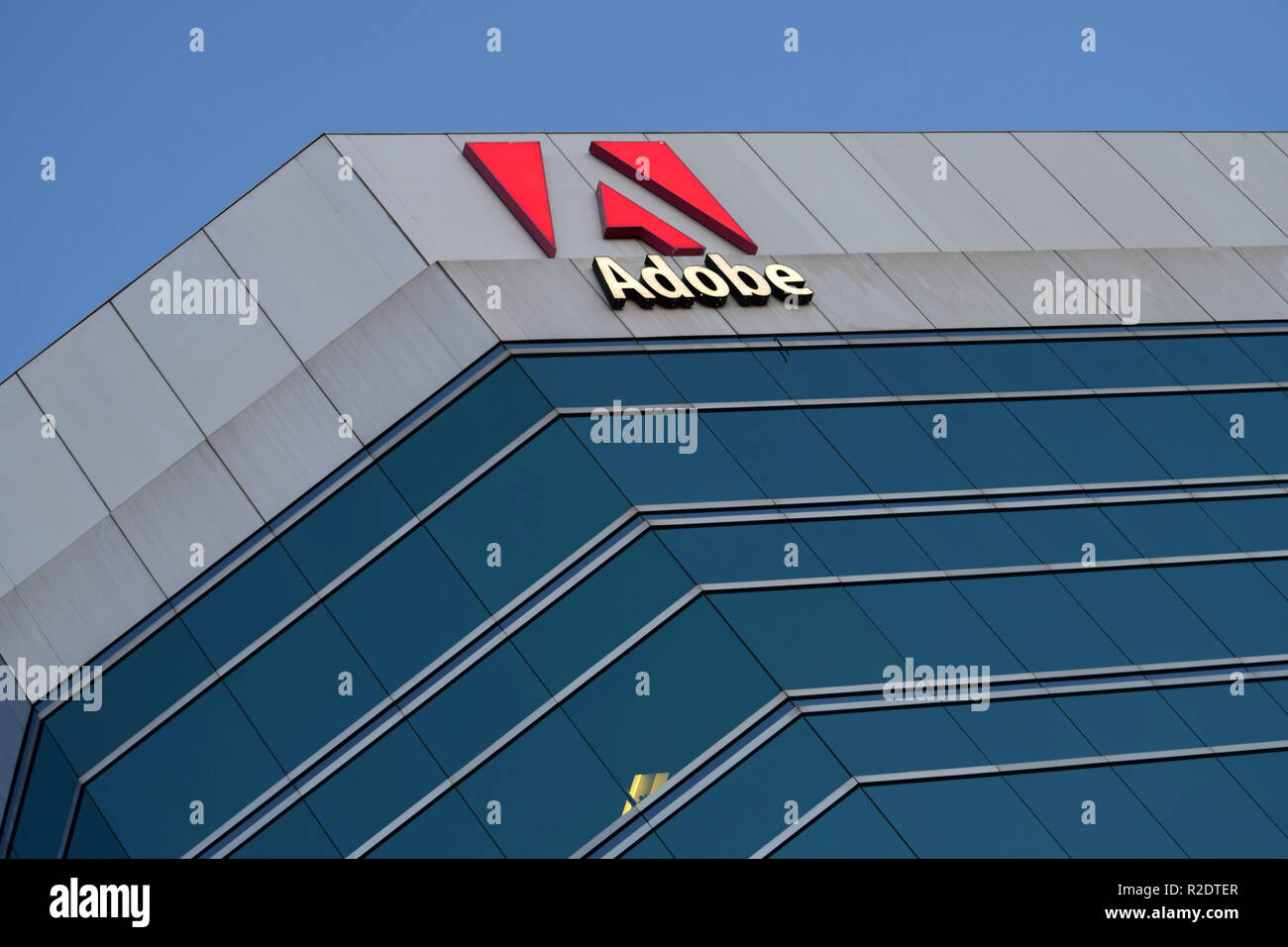 Adobe corporates office in Ottawa, Canada - Stock Image