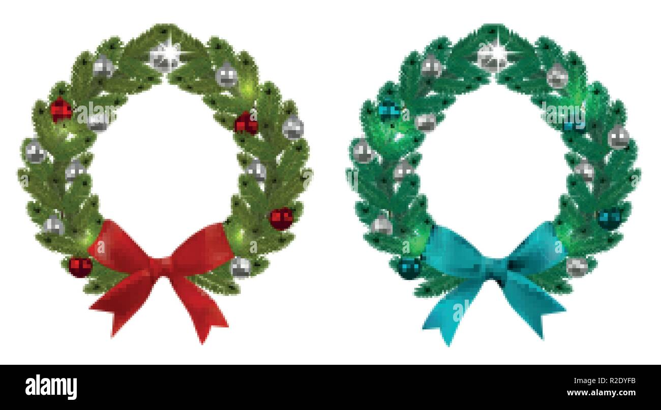 Christmas Wreaths Stock Vector Images - Alamy