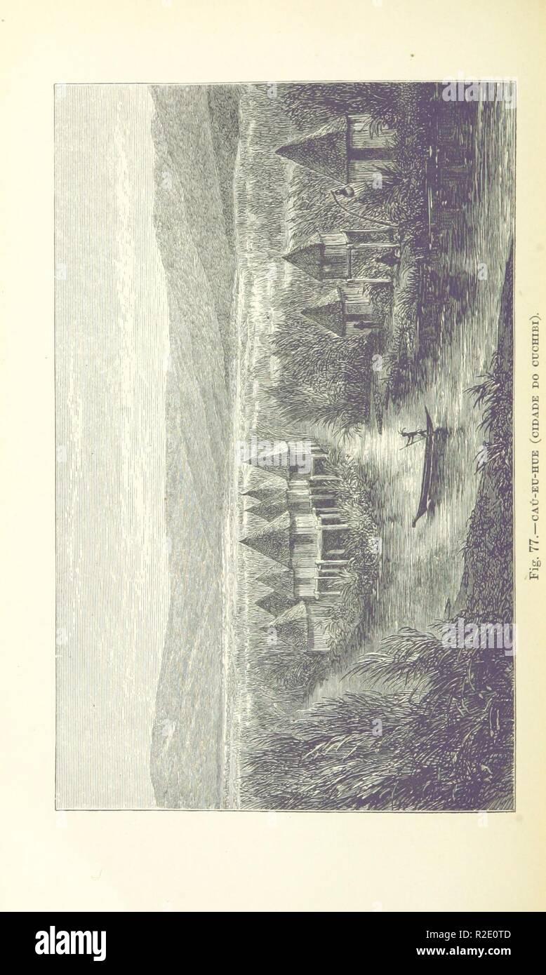 page 348 of 'Como eu atravessei Àfrica do Atlantico ao Mar Indico, viagem de Benguella á Contra-Costa . Contendo 15 mappas e facsimiles, e 133 gravuras, etc' . - Stock Image