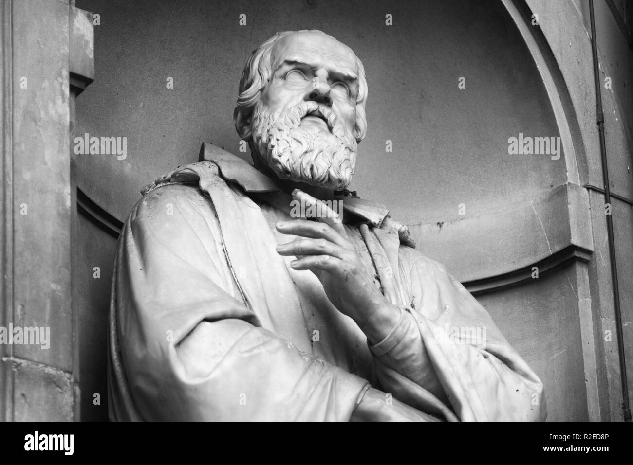 portrait of the famous scientist and astronomer Galileo Galilei - Stock Image