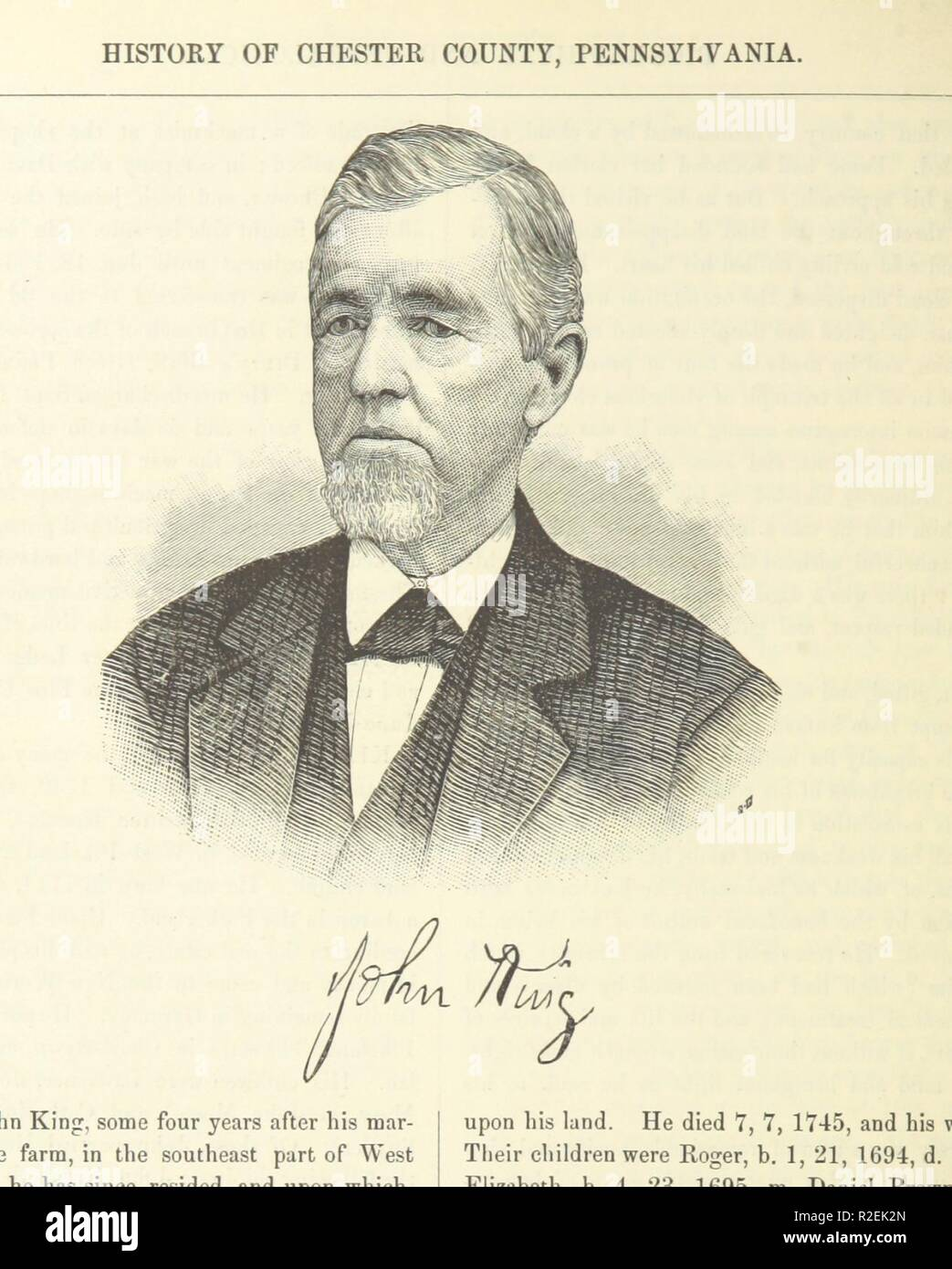 page 848 of 'History of Chester County, Pennsylvania, with genealogical and biographical sketches' . - Stock Image