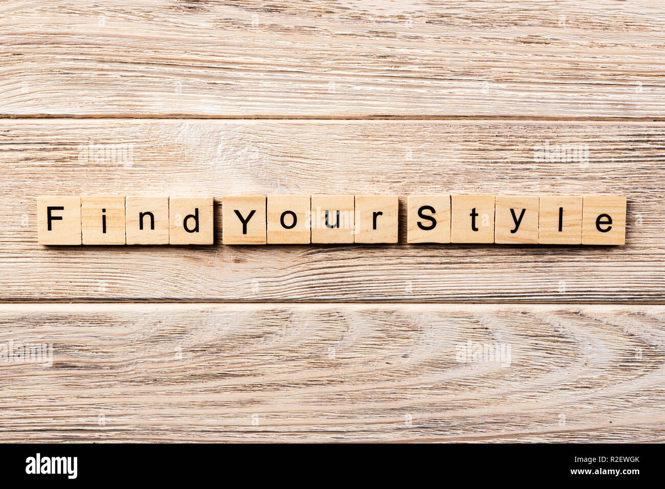 find your style word written on wood block. find your style text on table, concept. - Stock Image
