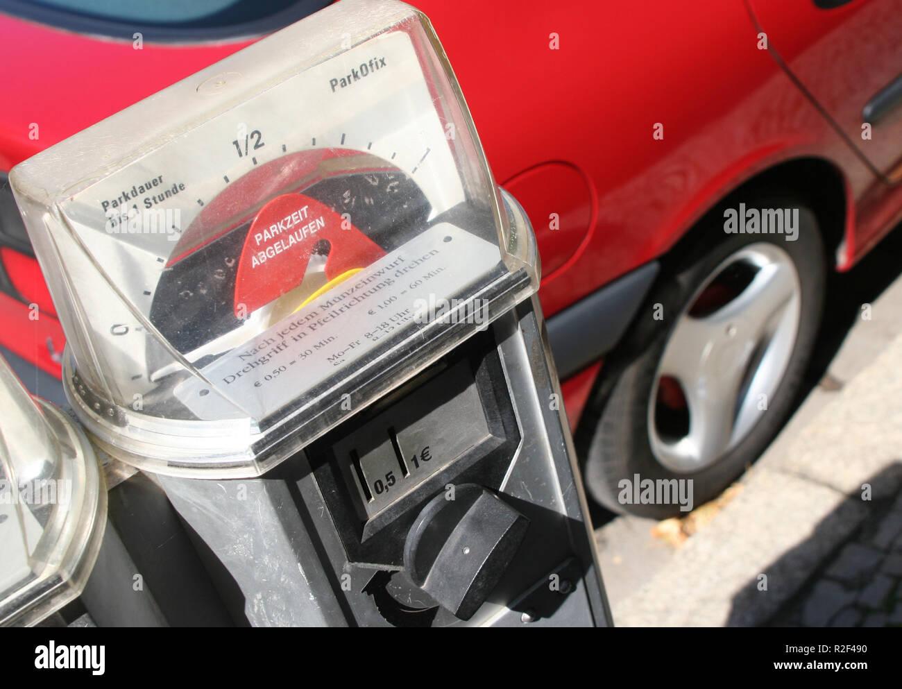 old parking meters 1 - Stock Image